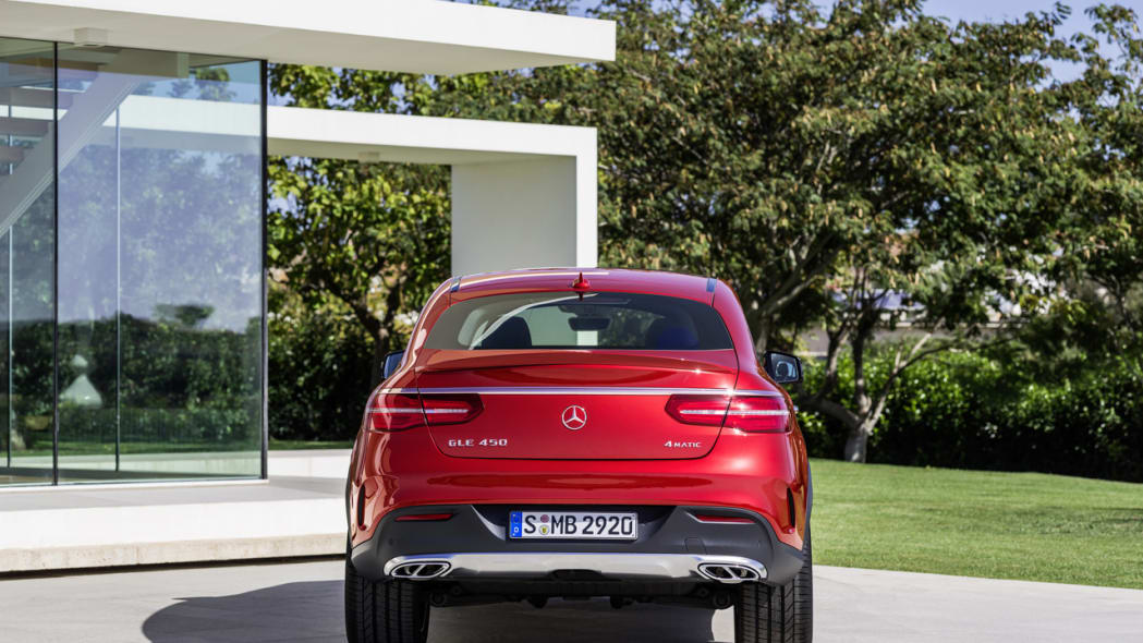 Mercedes GLE From Behind