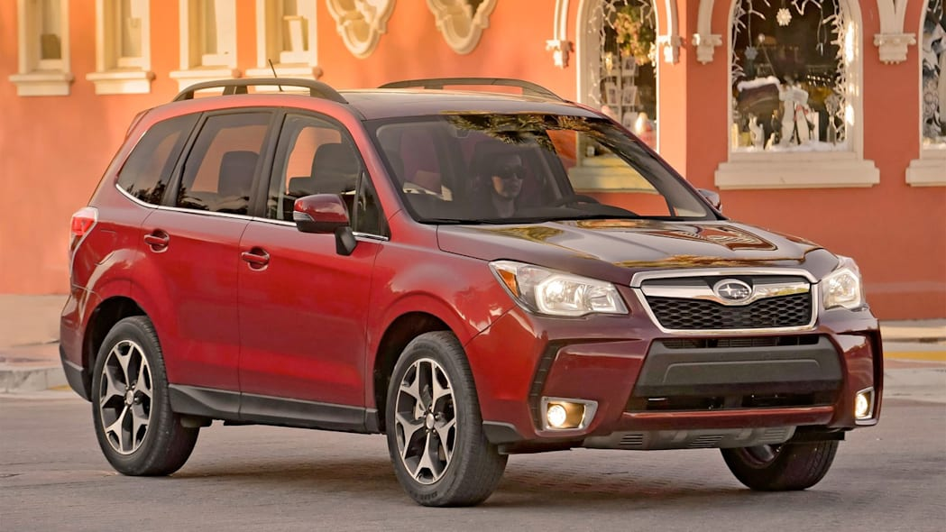 red subaru forester