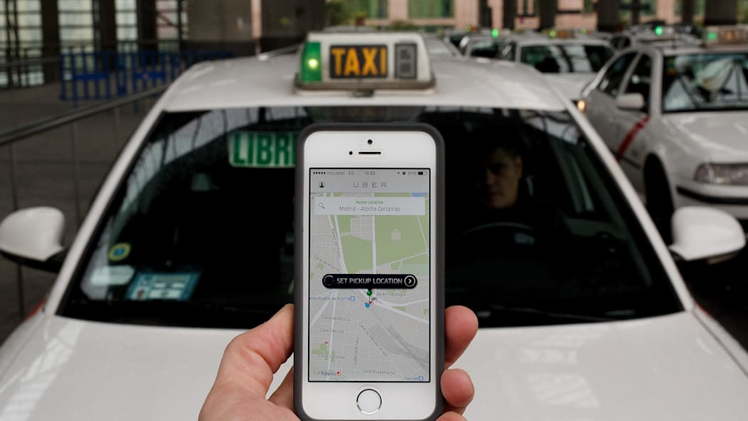 Uber Taxi App In Madrid