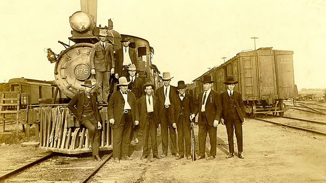 Ram 1500 Texas Ranger Concept guys in front of a train