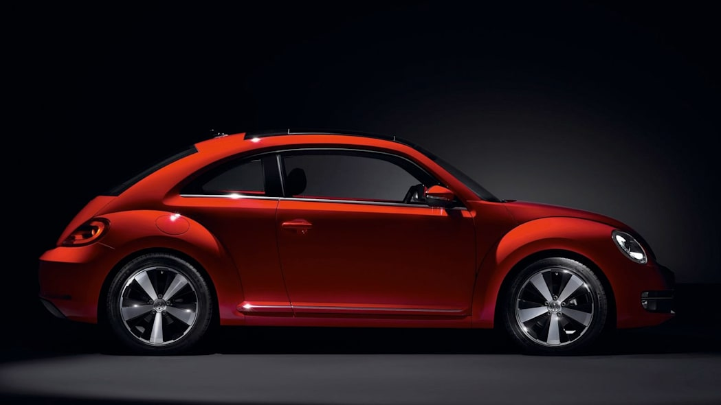 VW Beetle profile in red