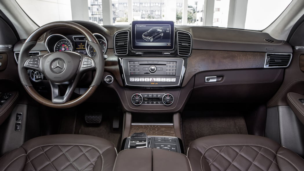 mercedes gle550e quilted brown interior