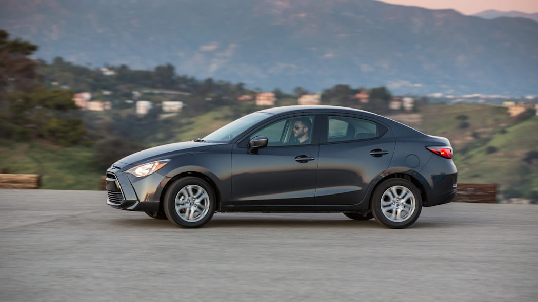 scion ia action profile side driving