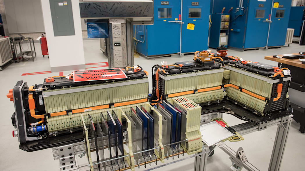 first-gen chevy volt battery in the lab