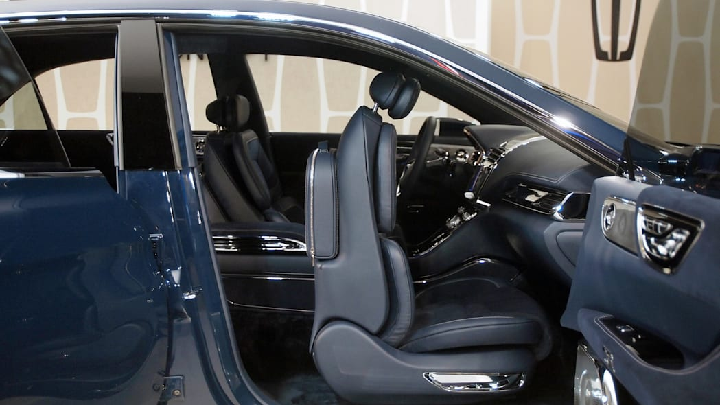 Lincoln Continental Concept front seat folded up