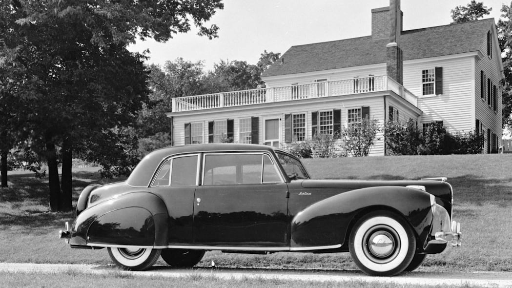 1941 Lincoln Continental black black and white