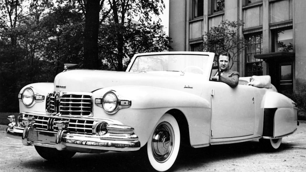1946 Lincoln Continental convertible white