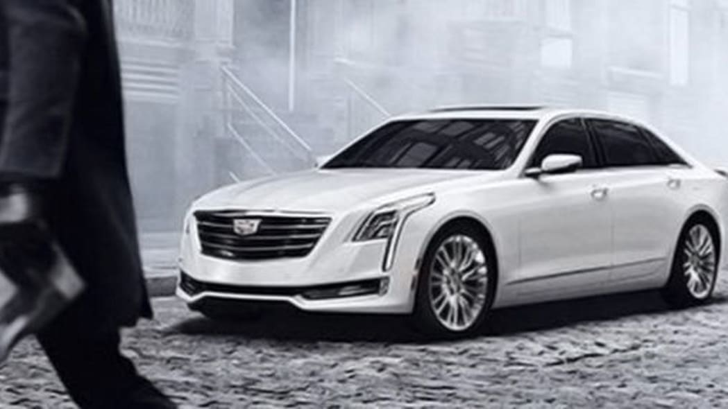 2016 Cadillac CT6 leaked image in white