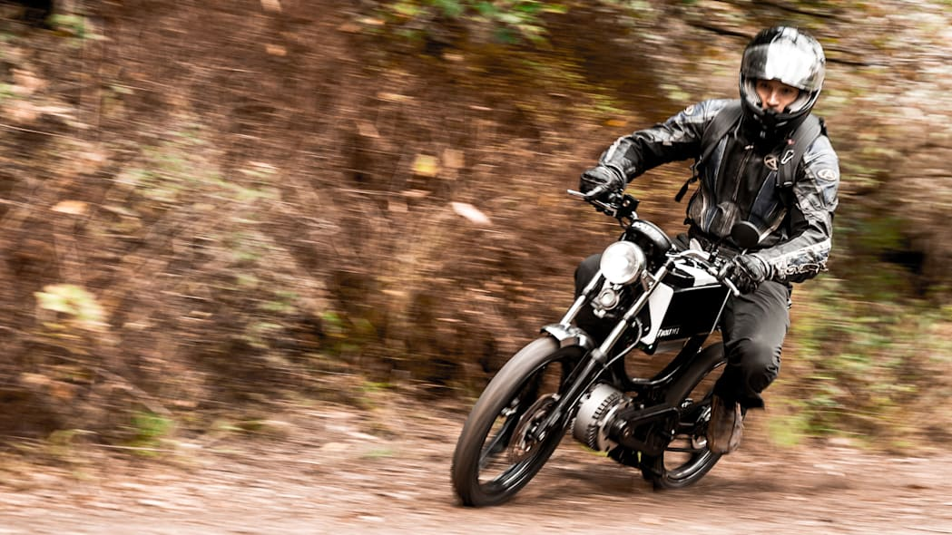 Bolt Motorbikes M-1 electric moped in action