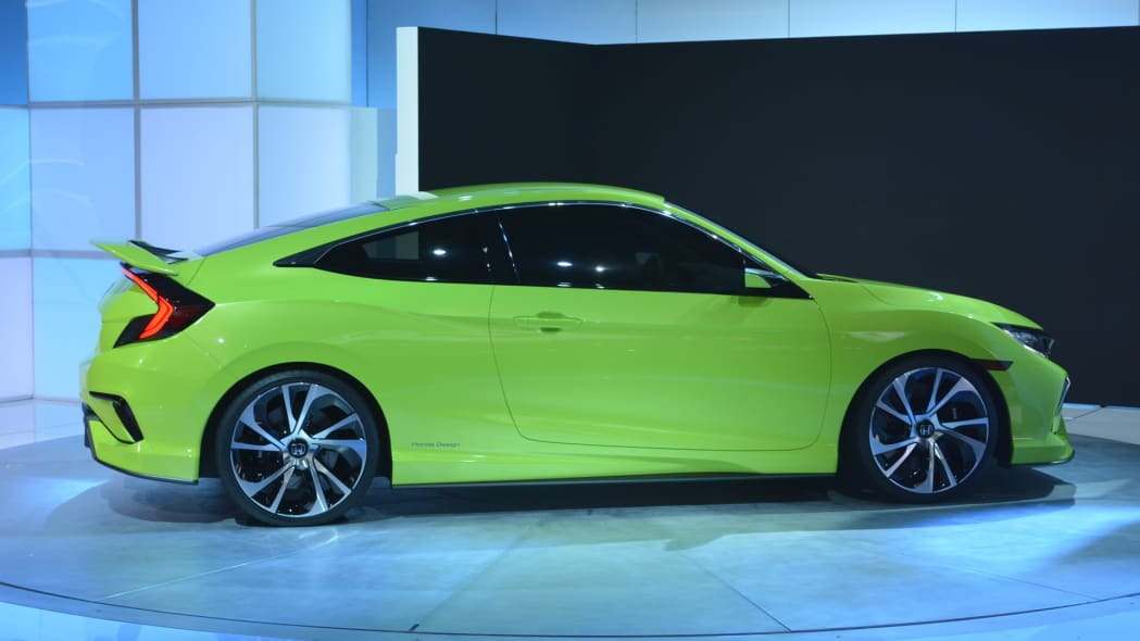 side wheels honda coupe concept civic