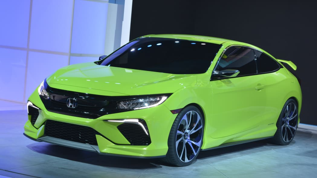 honda civic concept coupe green vtec