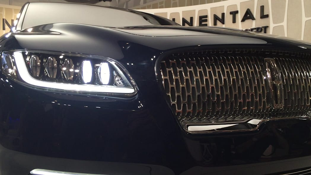 Lincoln Continental Concept Headlights Turning On