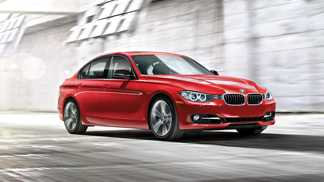 BMW 3 Series in red