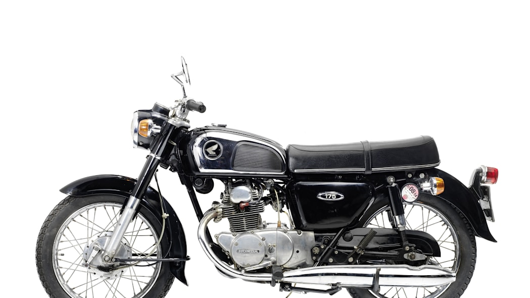 1973 honda cd175 side