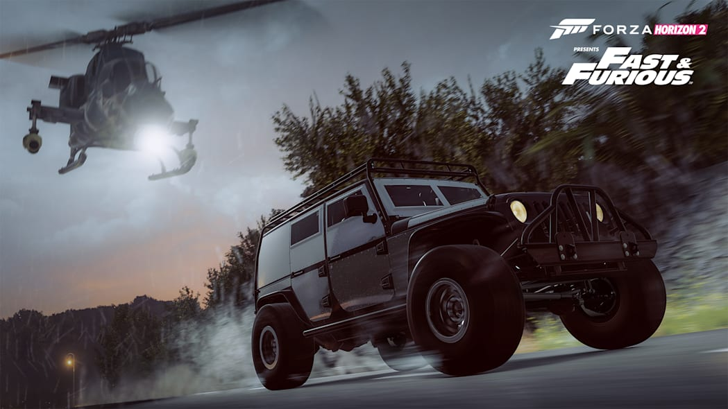 forza horizon helicopter fast and furious jeep wrangler
