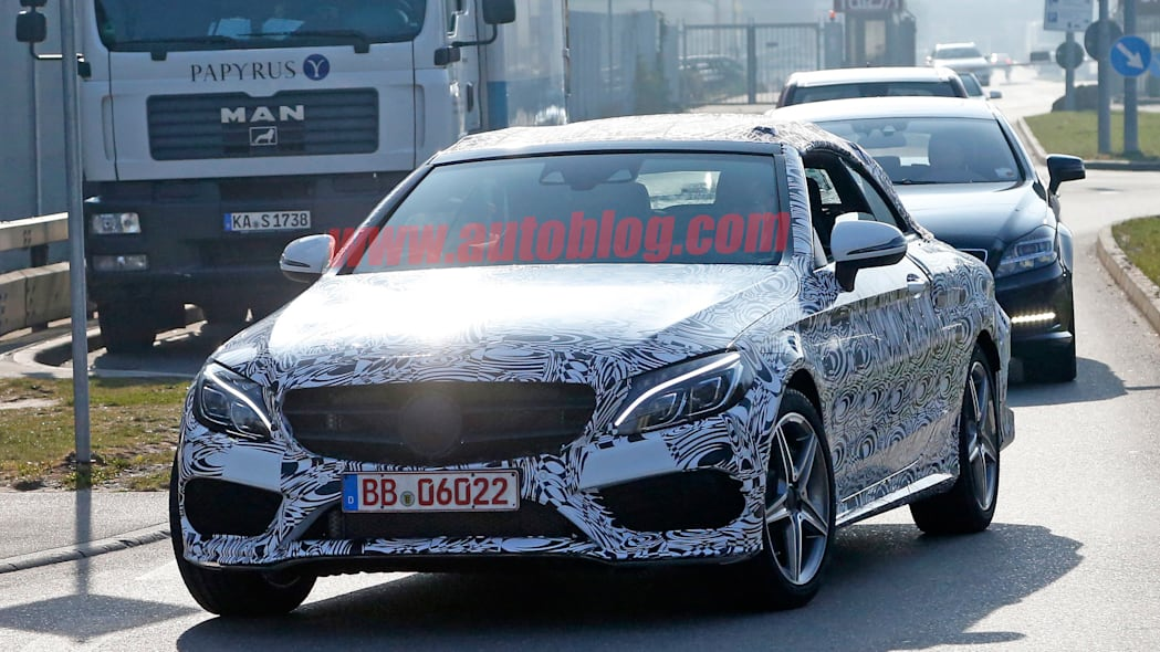 c-class mercedes cabriolet convertible spied