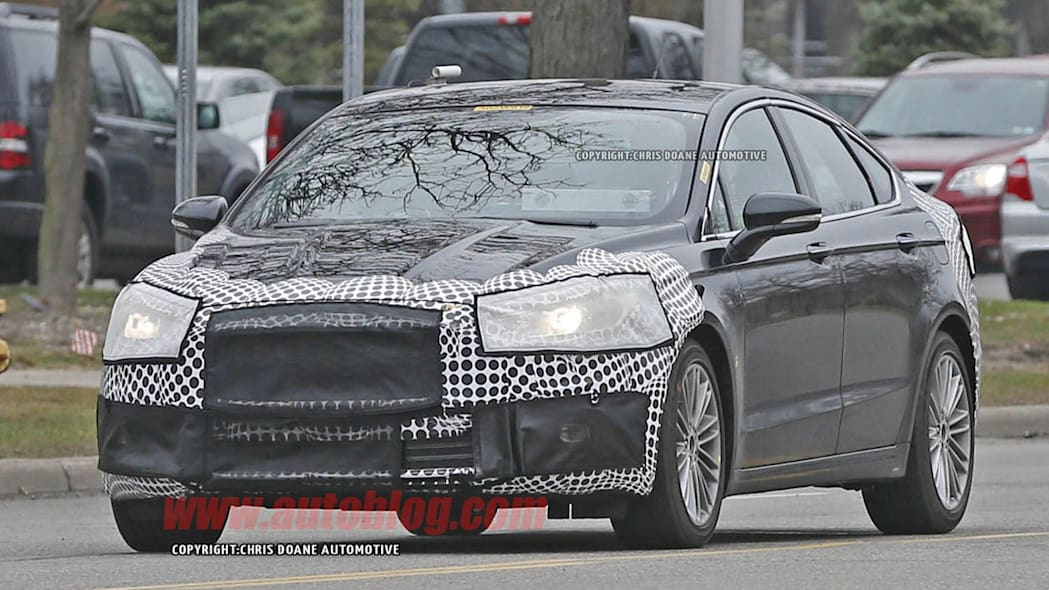 camouflaged 2017 ford fusion spy shot