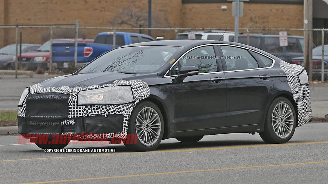 camouflaged 2017 ford fusion spy shot refresh