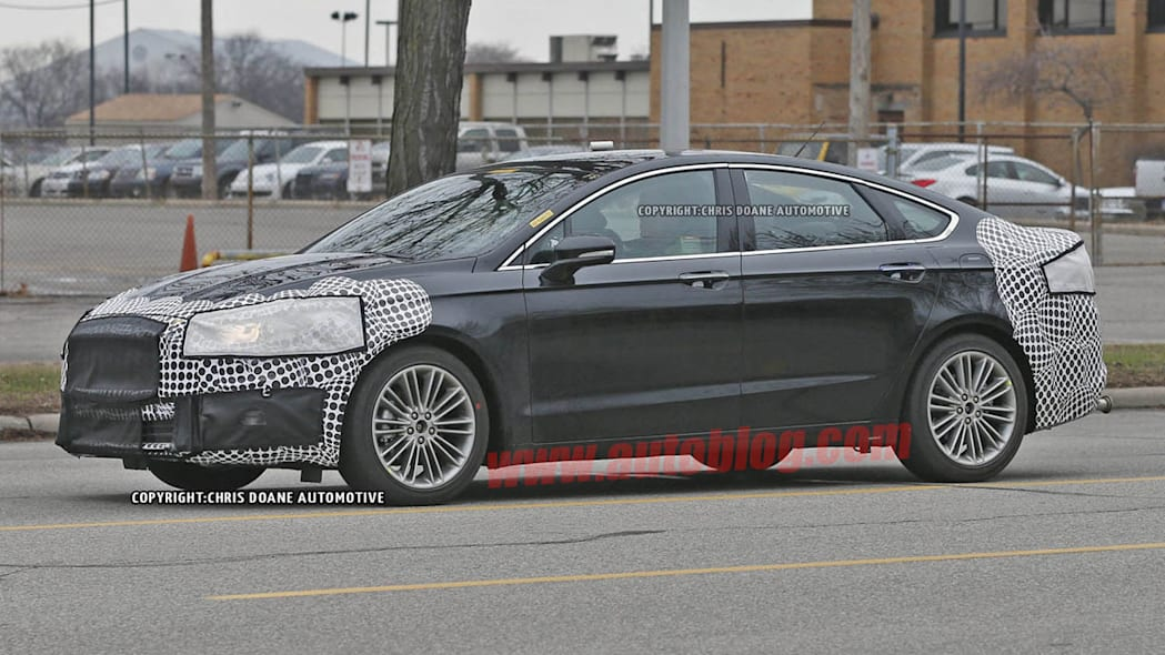 camouflaged 2017 ford fusion spy shot new look