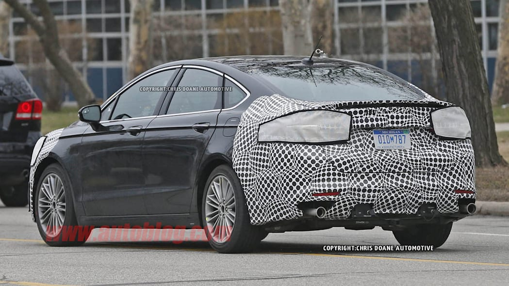 camouflaged 2017 ford fusion spy shot camouflage