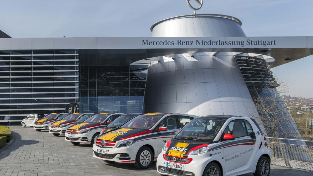 Mercedes-Benz B-Class Electric Drive and smart fortwo electric drive EV lineup.