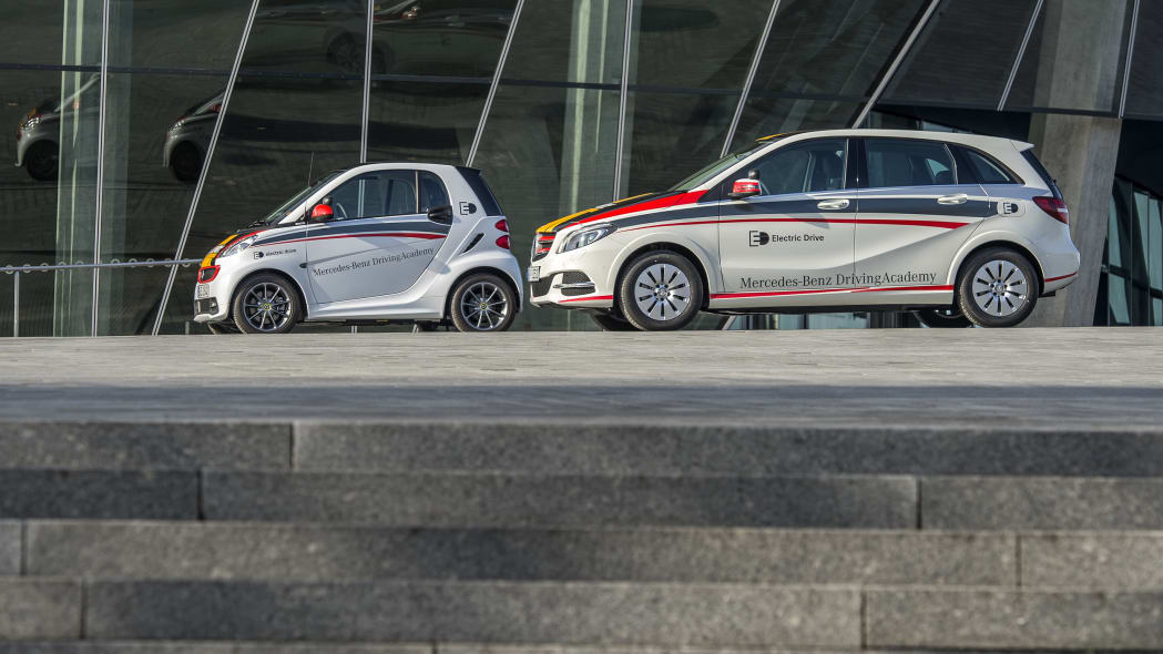Mercedes-Benz B-Class Electric Drive and smart fortwo electric drive driving school.