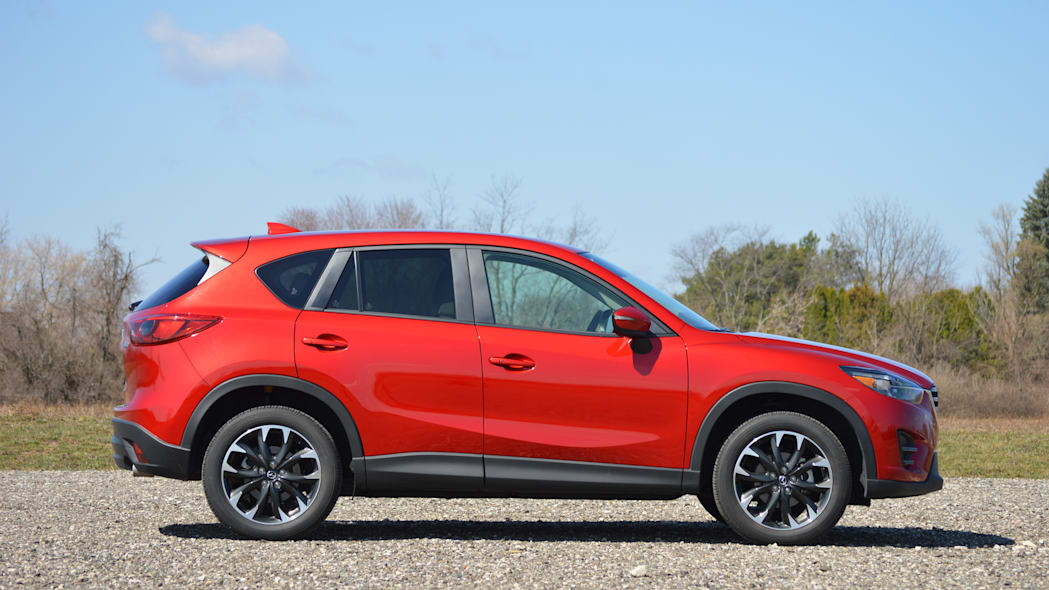 2016 Mazda CX-5 soul red grille detail badge