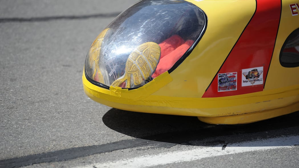 Mater Dei Supermileage 2 vehicle at the 2015 Shell Eco-Marathon
