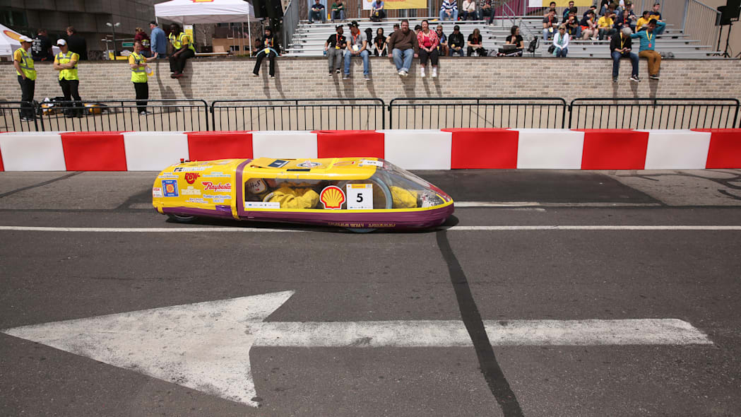 Black Diesel high-mpg vehicle at the 2015 Shell Eco-Marathon