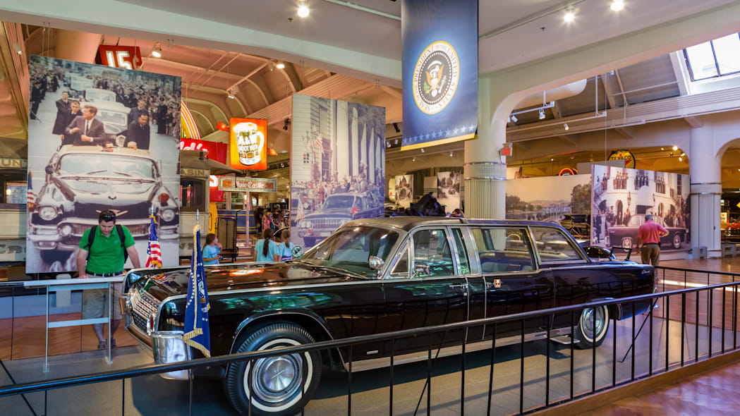 The presidential limousine in which President John F Kennedy was shot