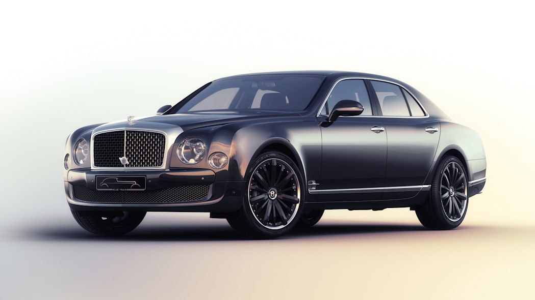 bentley mulsanne blue train limited edition