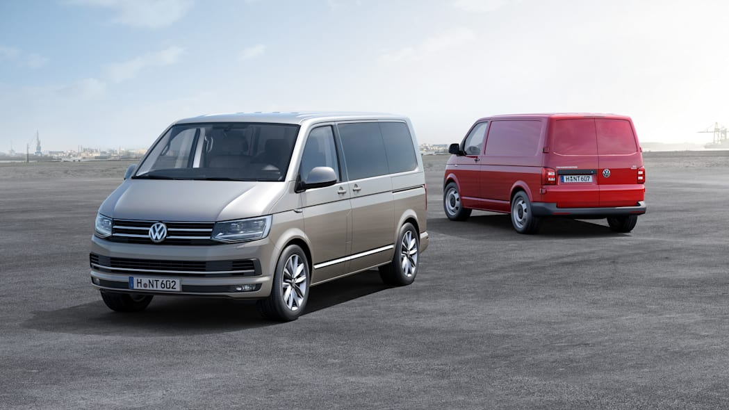 vw transporter t6 front and rear