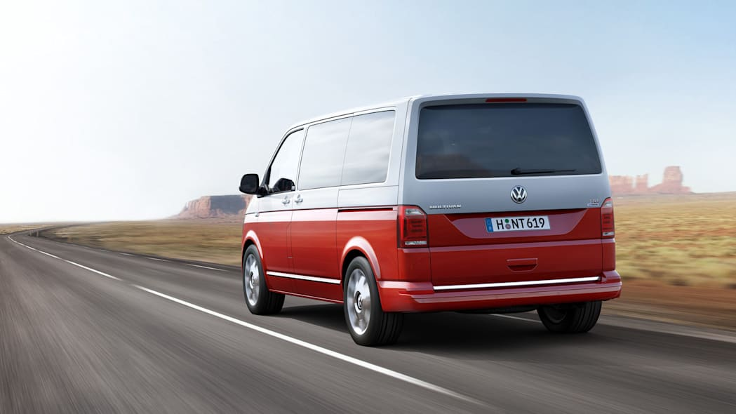 vw transporter t6 two tone rear