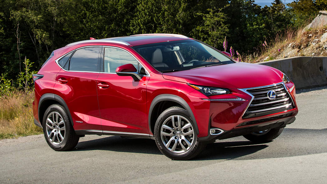 2015 Lexus NX300h AWD in red