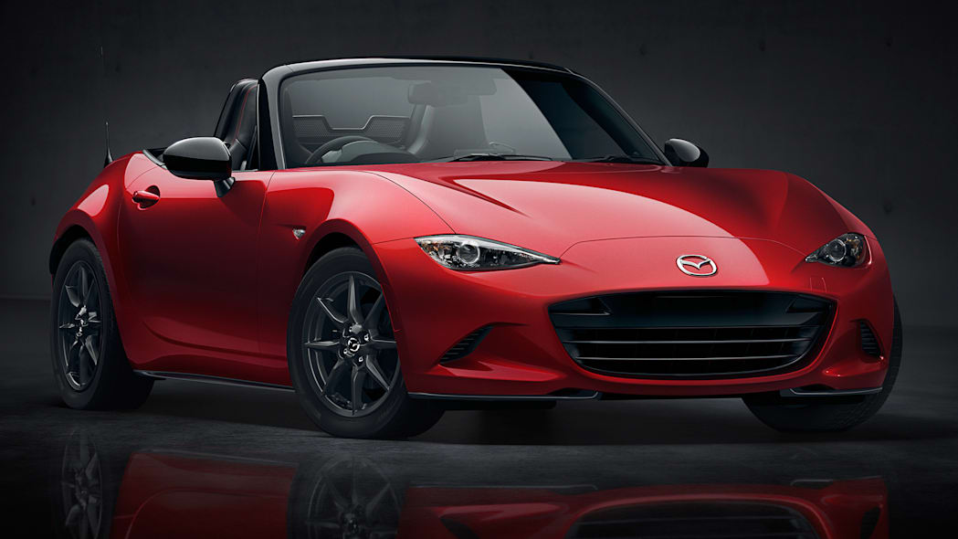 Mazda MX-5 Miata in red with reflection