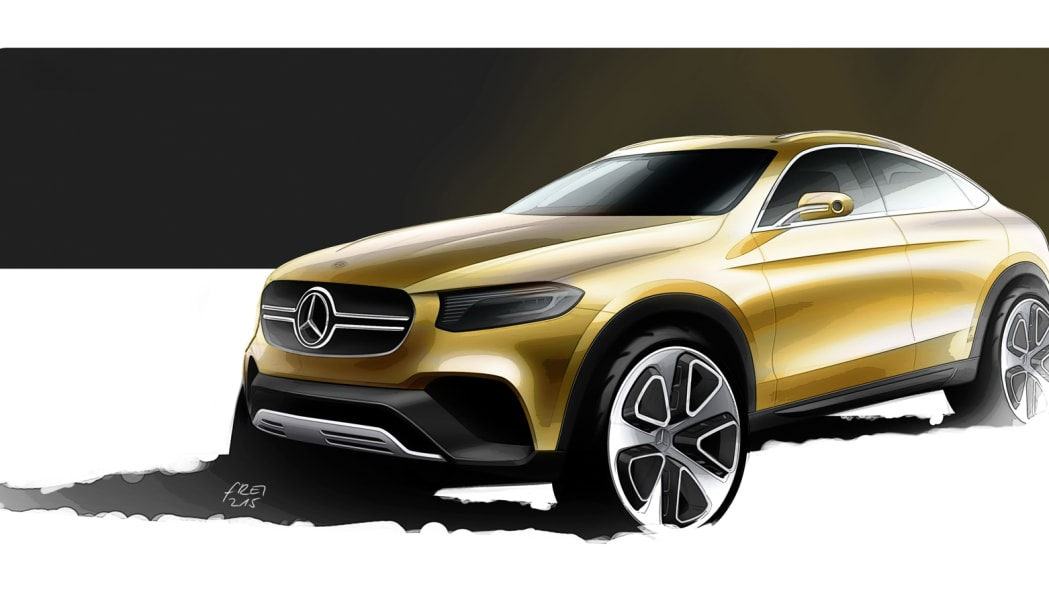 render drawing glc concept coupe mercedes