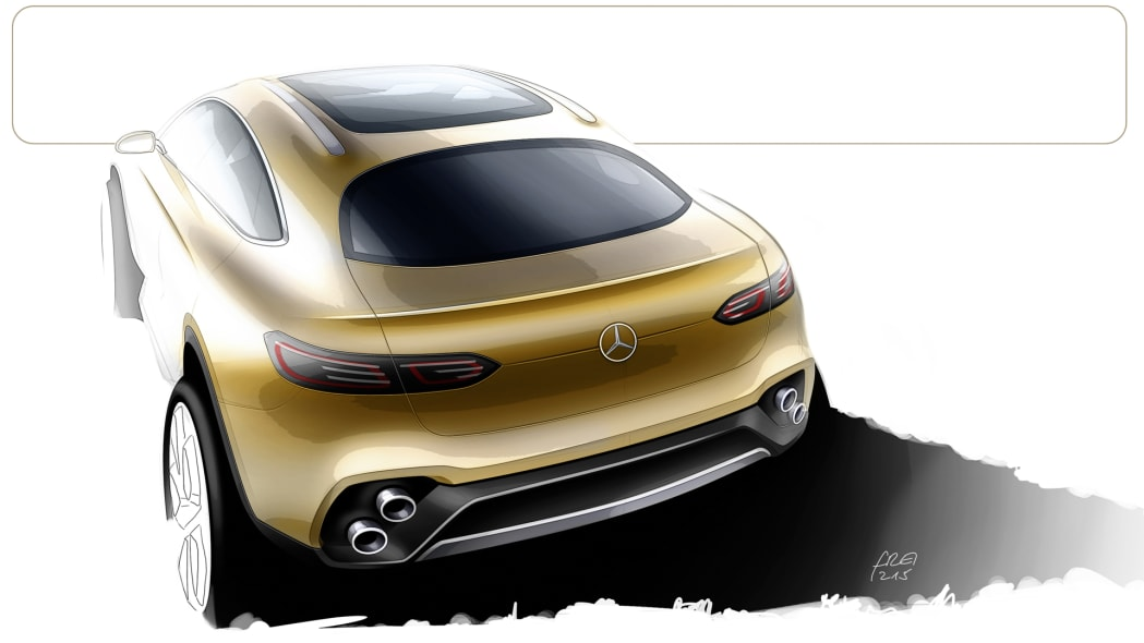 mercedes concept glc coupe rendering drawing