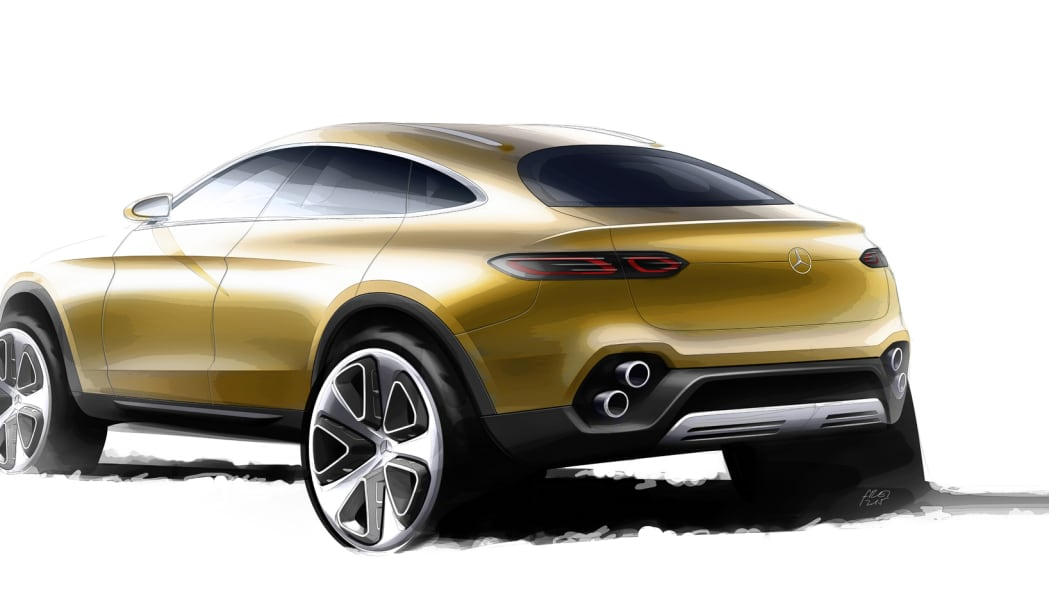 drawing render glc mercedes coupe concept