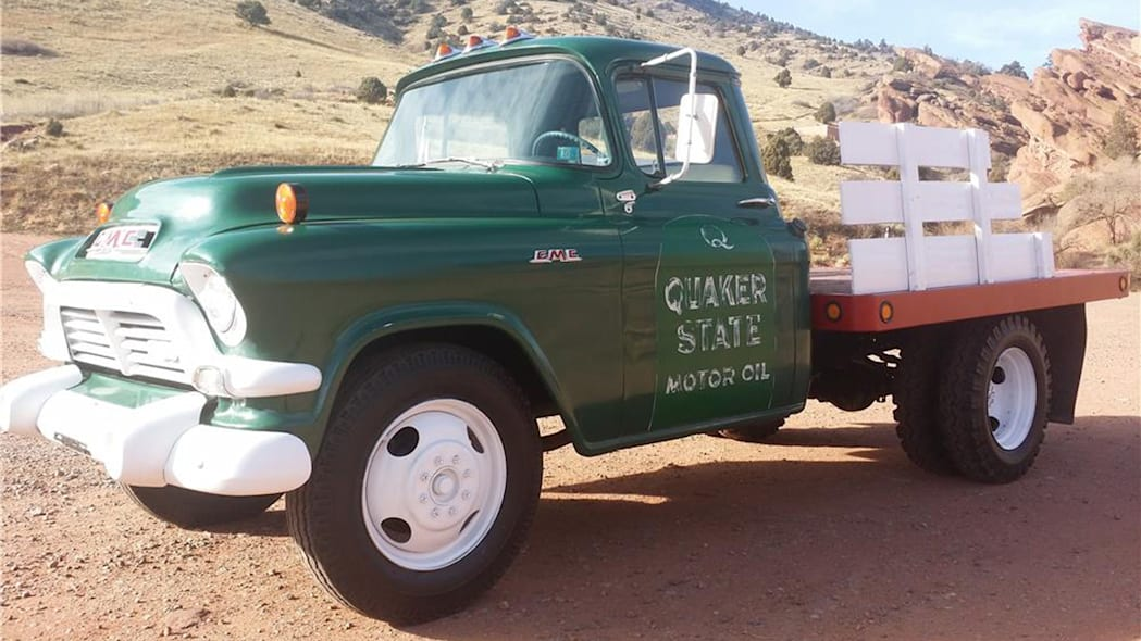 quaker state gmc 250 flatbed auction