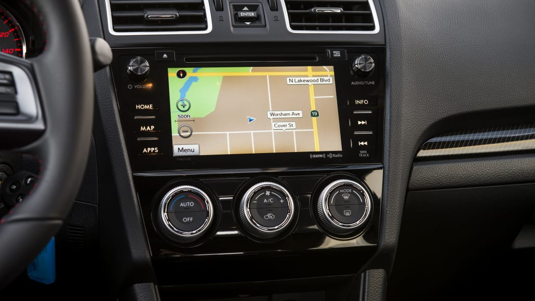 2016 subaru wry seven-inch navigation infotainment system