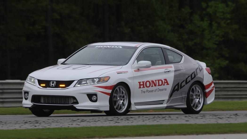 Honda Accord Coupe safety pace indy car hpd front 3/4 track