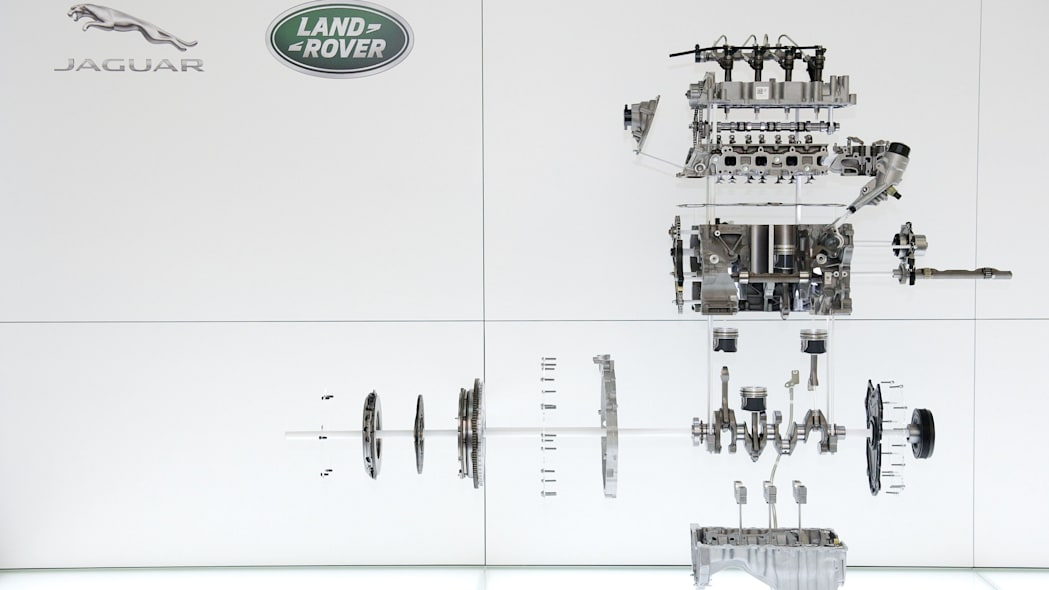 Land Rover Discovery Sport Ingenium diesel engine diagram exploded