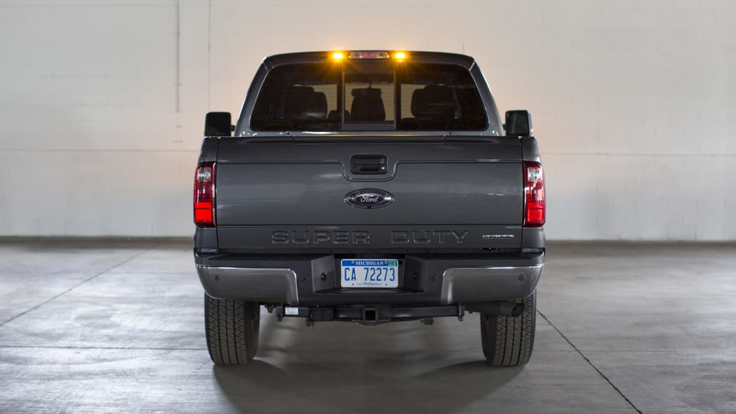 Ford F-Series Super Duty with LED strobe lights rear