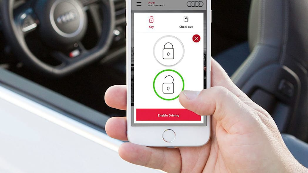 Audi on Demand iphone ios smartphone app