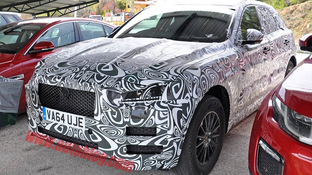 Jaguar F-Pace crossover spy prototype up close