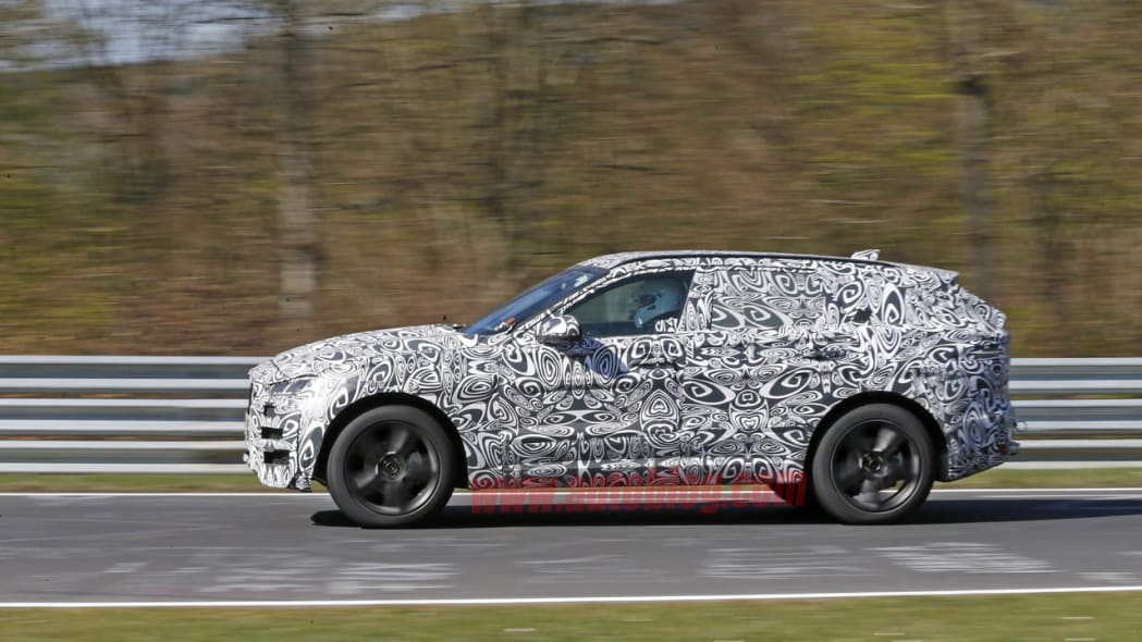 Jaguar F-Pace crossover spy prototype camouflage