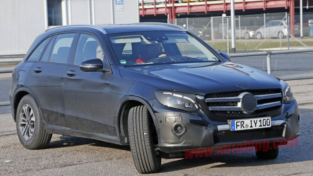 Mercedes-Benz GLC-Class prototype turning