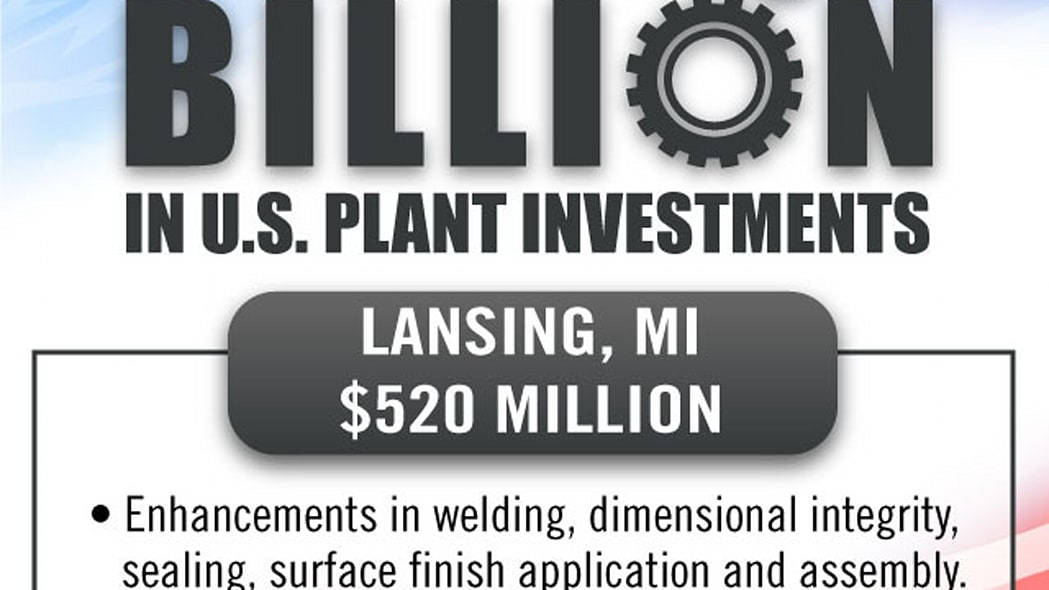 gm factory investment announcement lansing