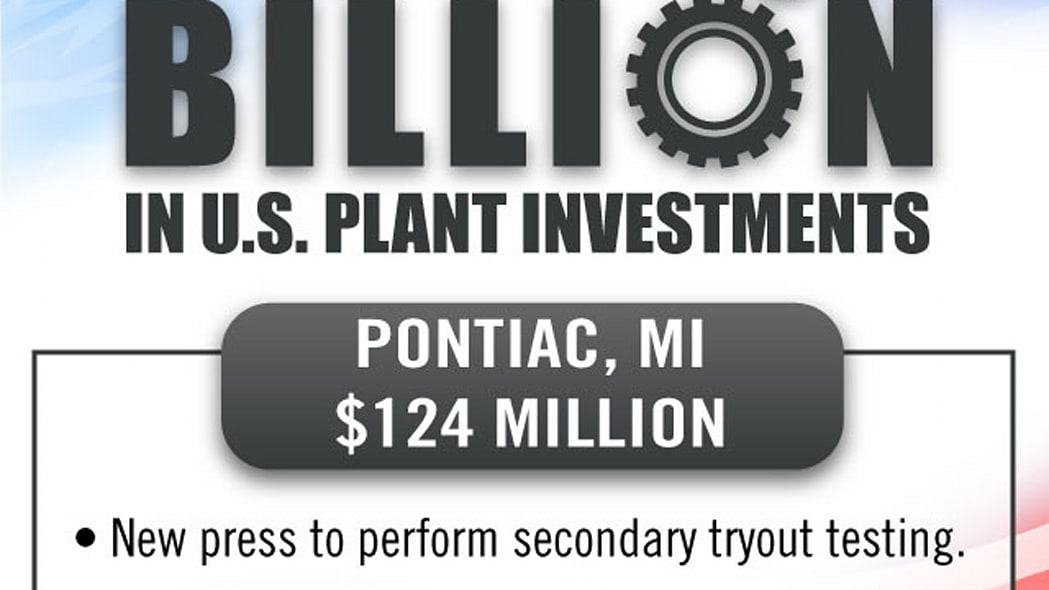 gm factory investment announcement pontiac