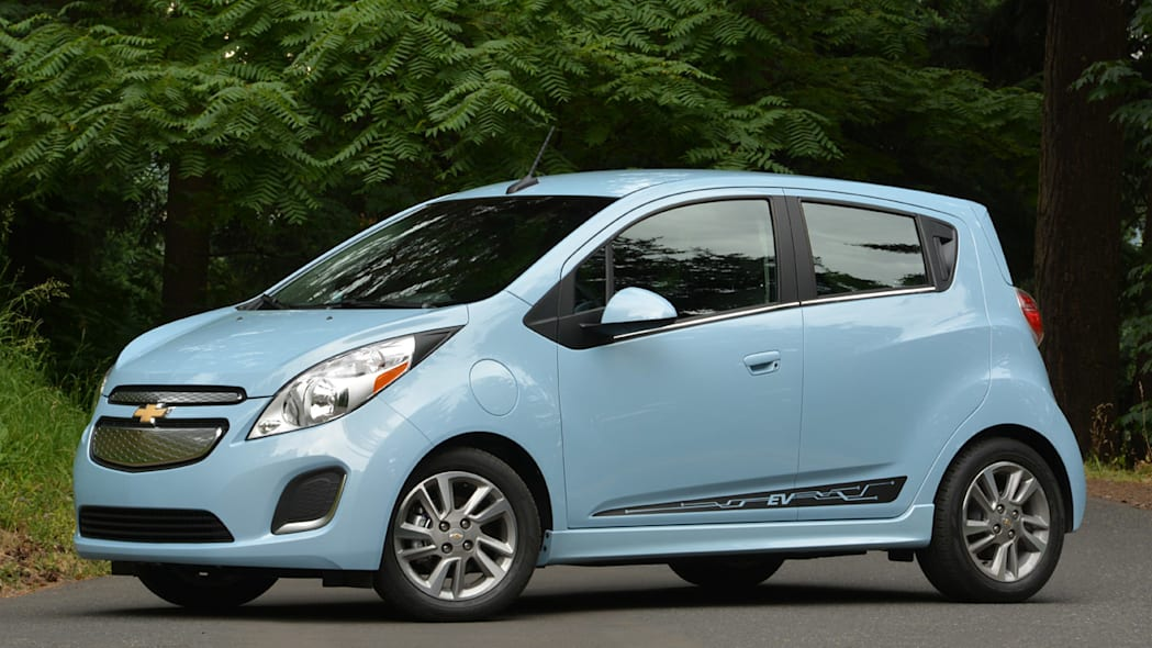 Chevy Spark EV in baby blue